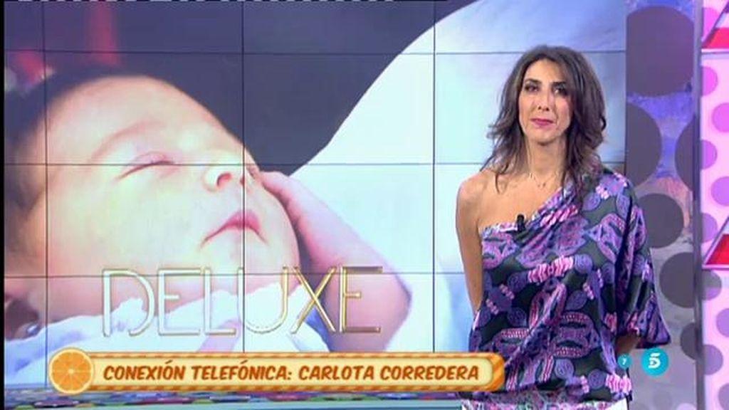 """Carlota Corredera: """"Estoy emocionada por volver al programa y, sobre todo, para contar que mi niña está bien"""""""