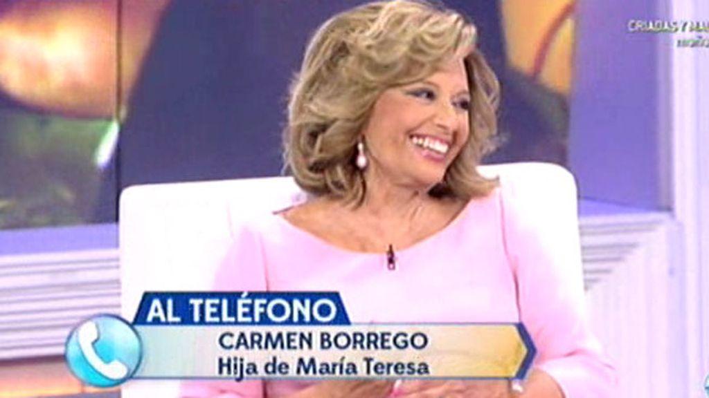 "Carmen Borrego, a María Teresa: ""Soy como soy gracias a ti y a cómo nos has educado"""