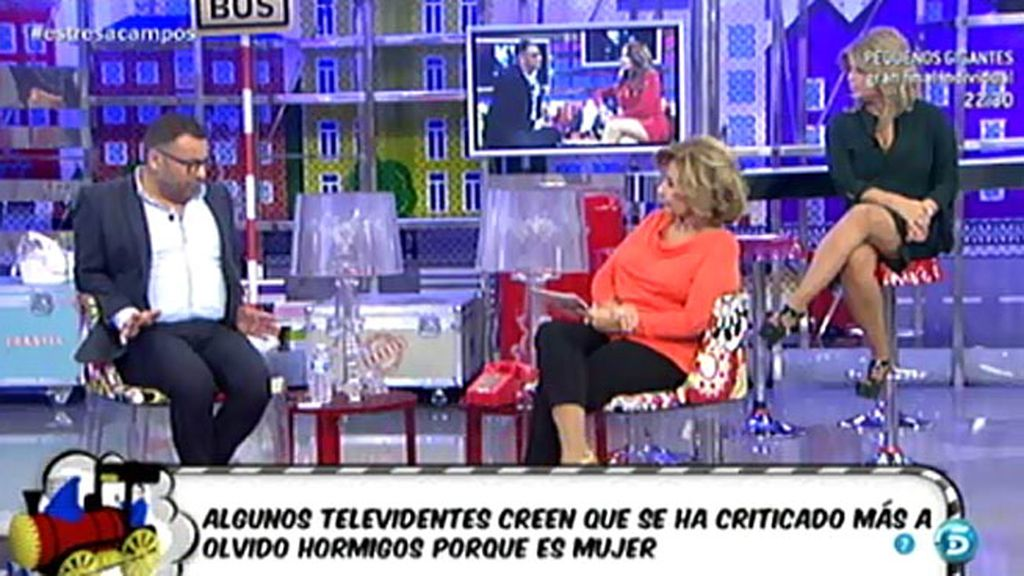 """María Teresa Campos, sobre Olvido Hormigos: """"Aquí hay mucho de negocio"""""""