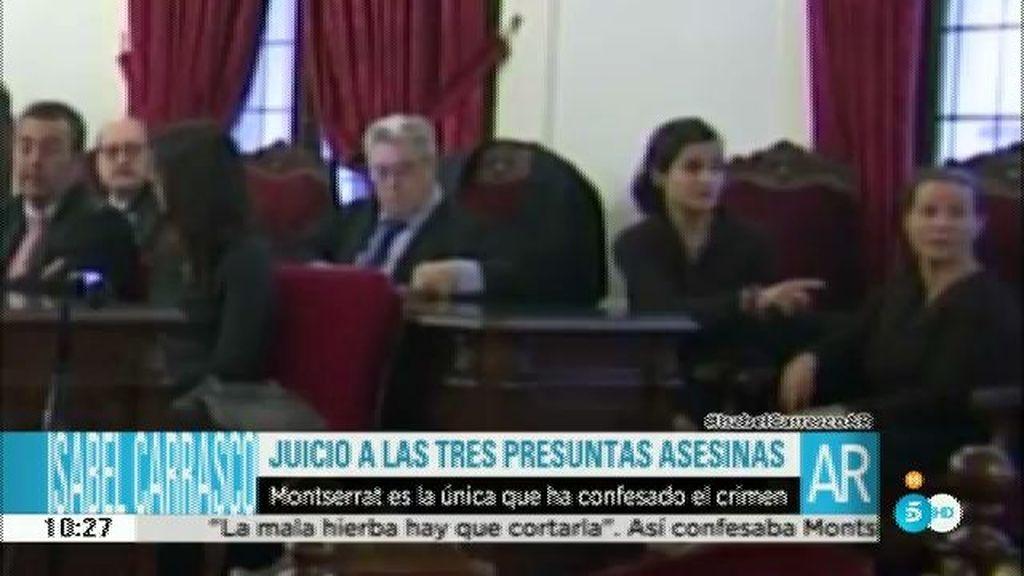 Primeras imágenes de Montserrat González y Triana Martínez en el banquillo