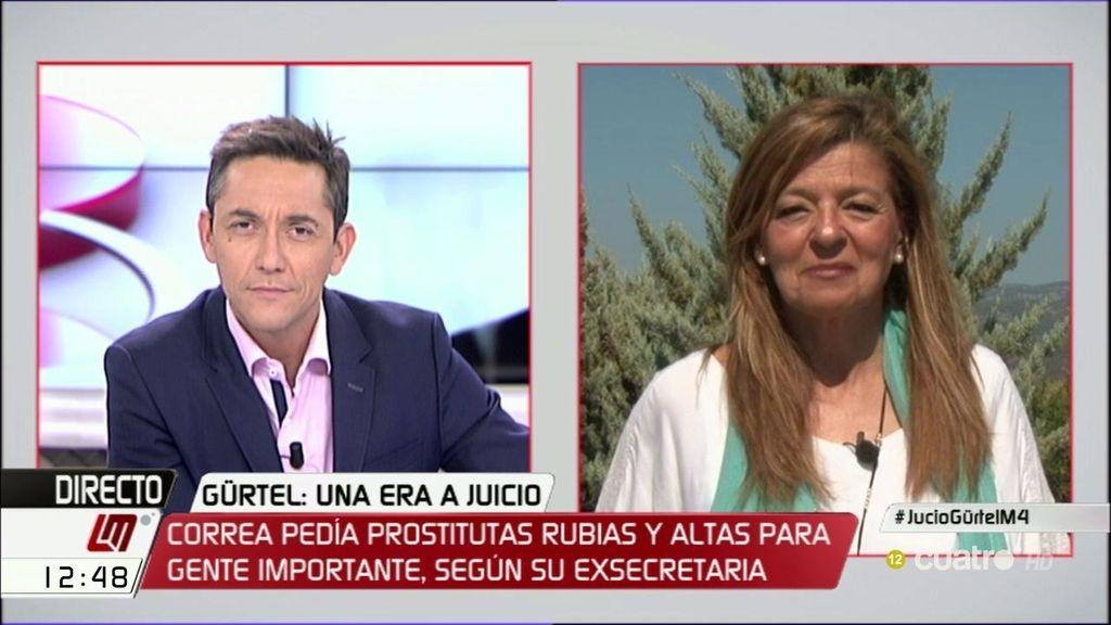 """Ana Garrido, sobre Gürtel: """"El juicio será una guerra de salvar el pellejo pero, tras siete años, están ahí sentados"""""""
