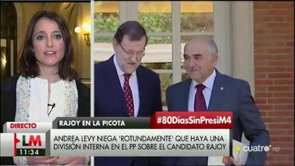 """Andrea Levy: """"El Partido Popular no va a negociar sin Mariano Rajoy"""""""