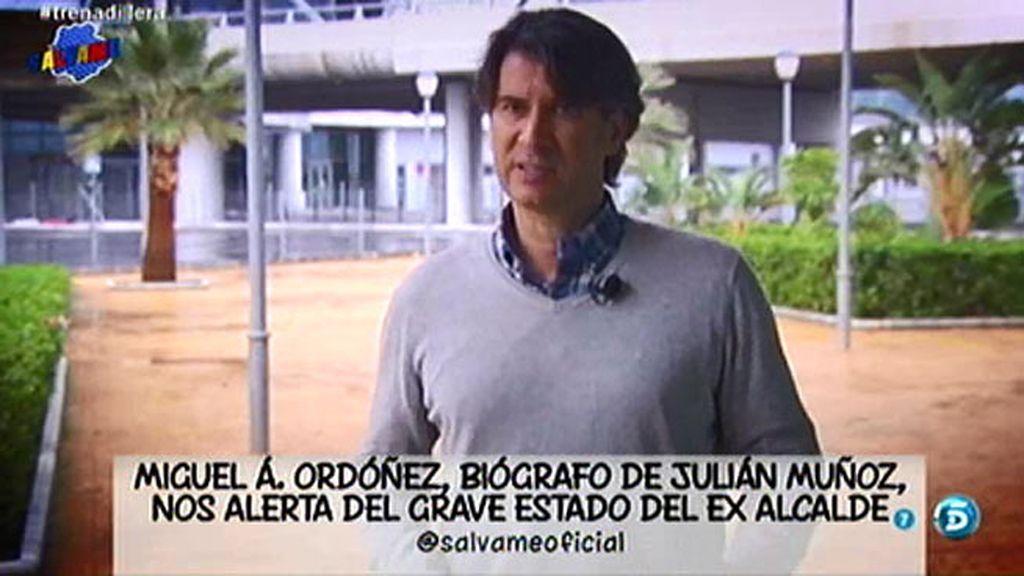 """El biógrafo de Julián Muñoz advierte sobre su estado de salud: """"Un día nos da un susto"""""""