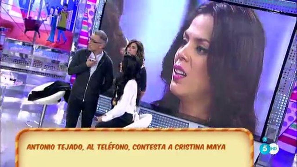 """Antonio, contesta a Cristina Maya: """"Yo he visto a esta mujer dos veces en mi vida"""""""