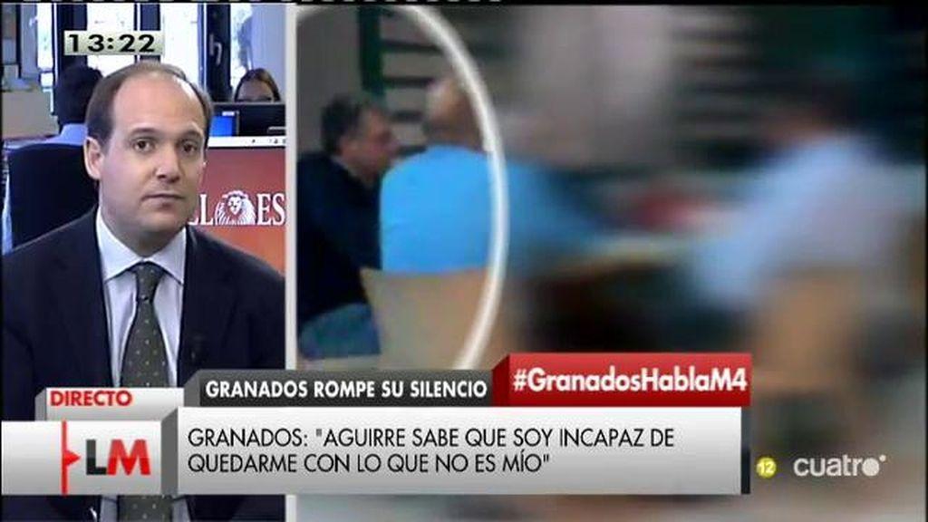 """Esteban Urreiztieta: """"Francisco Granados no va a perdonar que Aguirre no haya respetado su presunción de inocencia"""""""