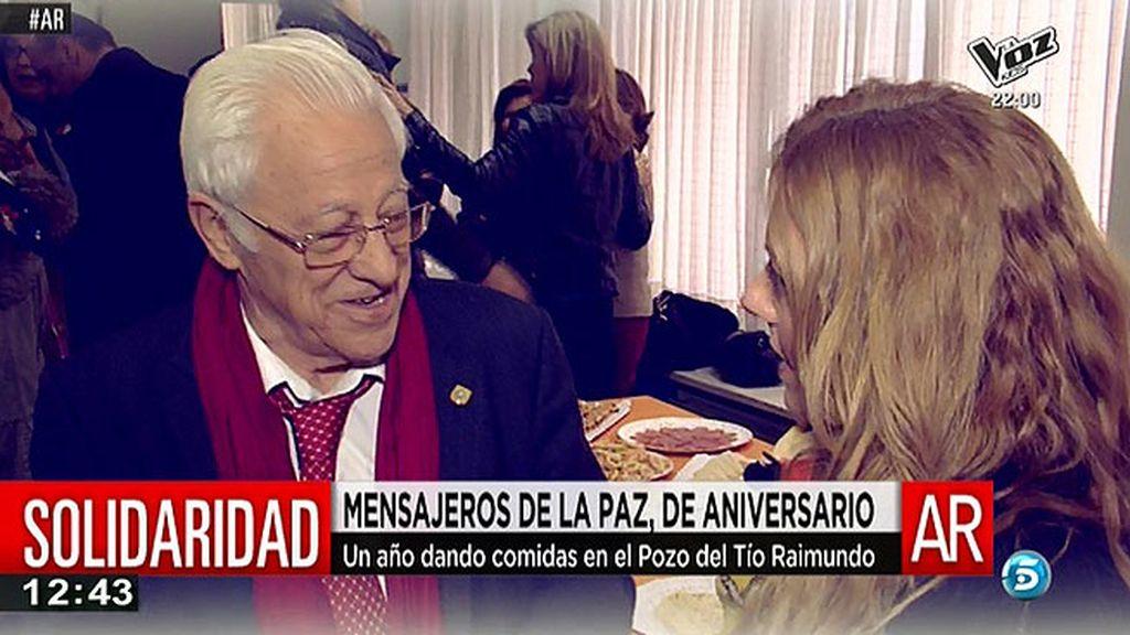 El comedor de Mensajeros de la Paz en el Pozo del tío Raimundo cumple un año