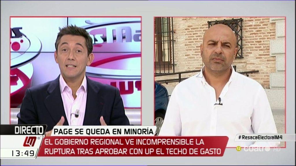 """García Molina: """"García-Page está más interesado de Madrid que de La Mancha"""""""