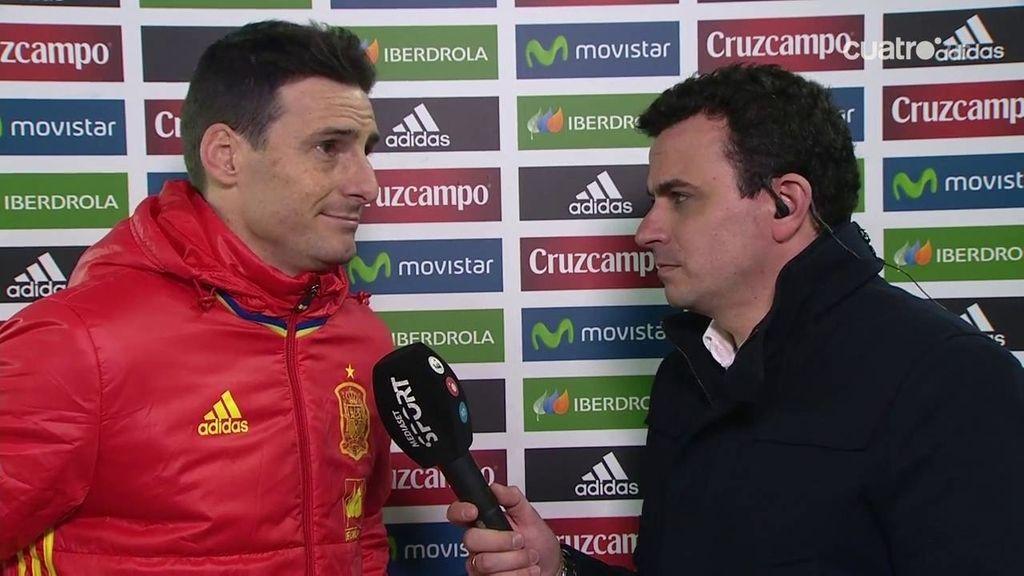 """Aduriz, tras su vuelta a La Roja: """"Es fácil entenderse con estos jugadores"""""""