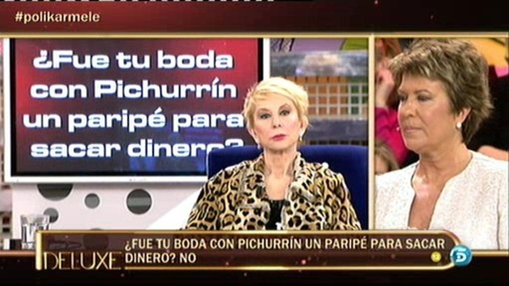 El polígrafo confirma que Karmele no se casó con Pichurrín por dinero