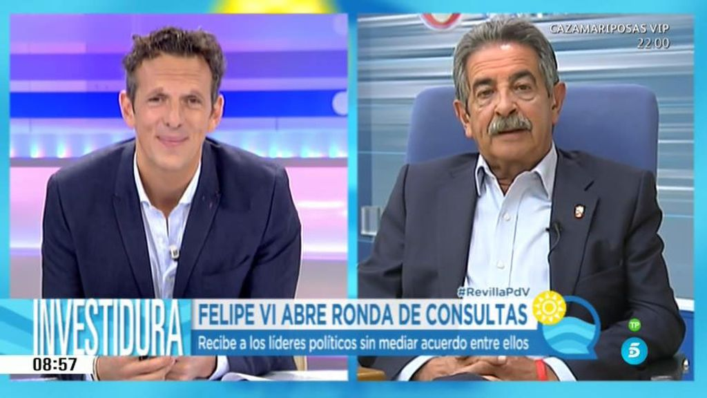 """Revilla: """"No entiendo que Rajoy, que es el tapón, está empeñado en seguir"""""""