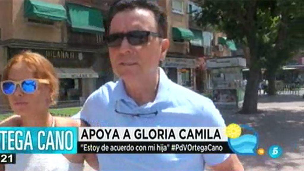 """Ortega apoya a su hija Gloria: """"¿Cómo no voy a estar de acuerdo con ella?"""""""