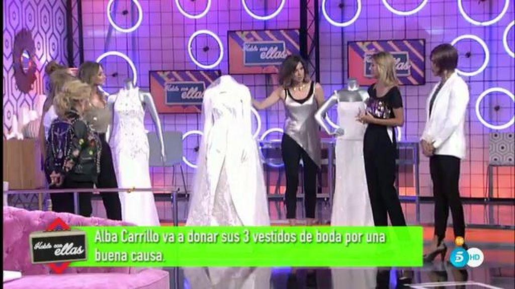 Alba Carrillo dona sus vestidos de boda a una Asociación de mujeres maltratadas