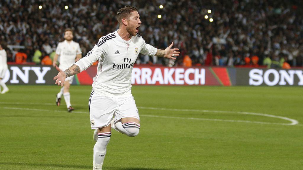 Sergio Ramos abrió el marcador con otro golazo de cabeza de los suyos (0-1)
