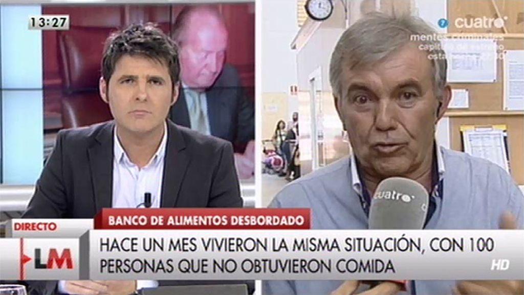 """Jaime Serra: """"Le diría al futuro Rey que por favor se diera cuenta lo que pasa en la calle"""""""