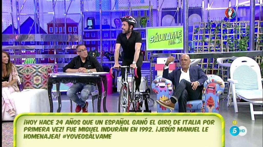 Jesús Manuel homenajea a Miguel Indurain
