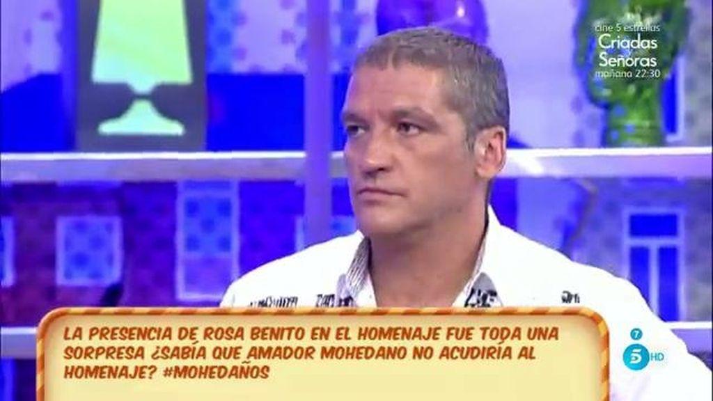 Según  José Fernando, nadie le avisó para ir al homenaje de su madre