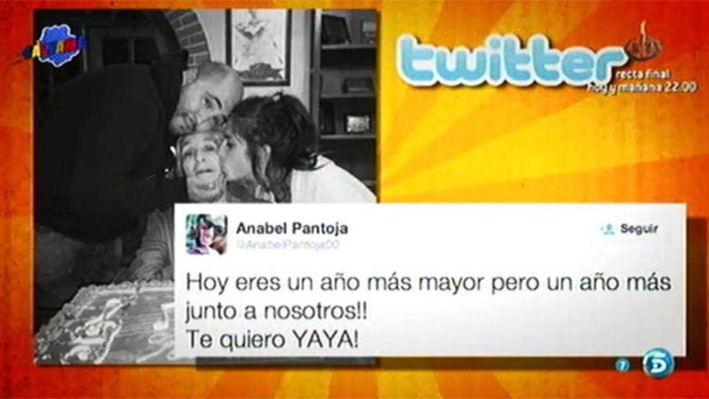 Anabel Pantoja felicita a su abuela Ana en Twitter con Kiko… pero ni rastro de Chabelita