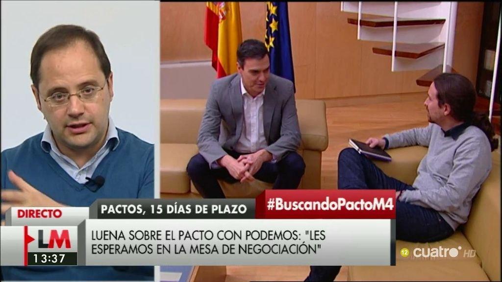 """César Luena, de Podemos: """"Llevan demasiados días perdidos"""""""