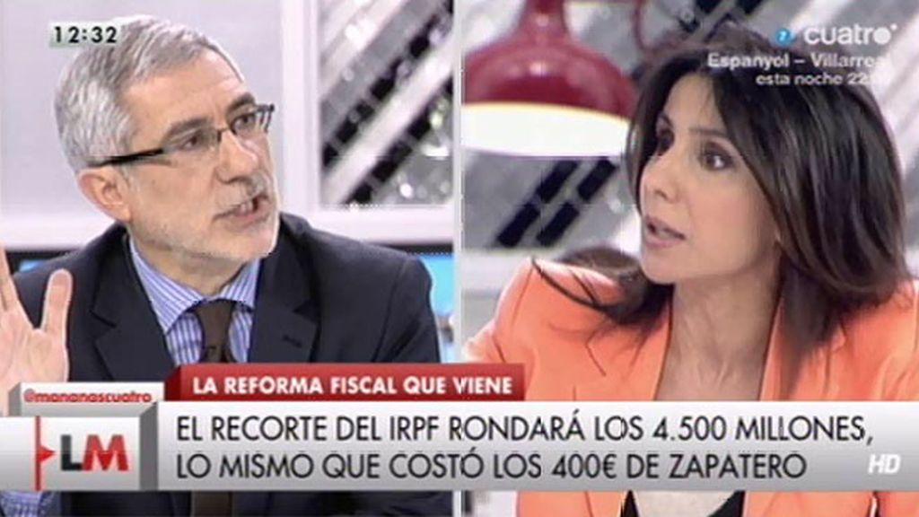 """Carmen Morodo: """"¿La situación es como en 2011? ¿Cómo puedes sostener eso?"""""""