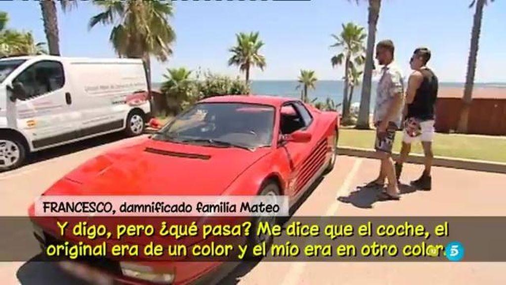 Francesco asegura haber tenido problemas con la familia Mateo por los coches que compró