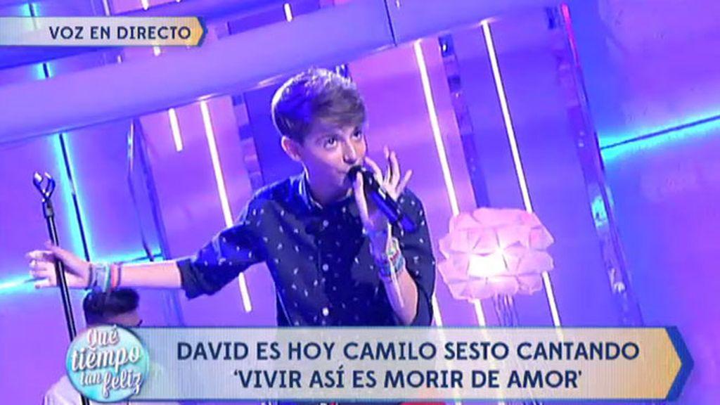 David Parejo triunfa con 'Vivir así es morir de amor', de Camilo Sesto