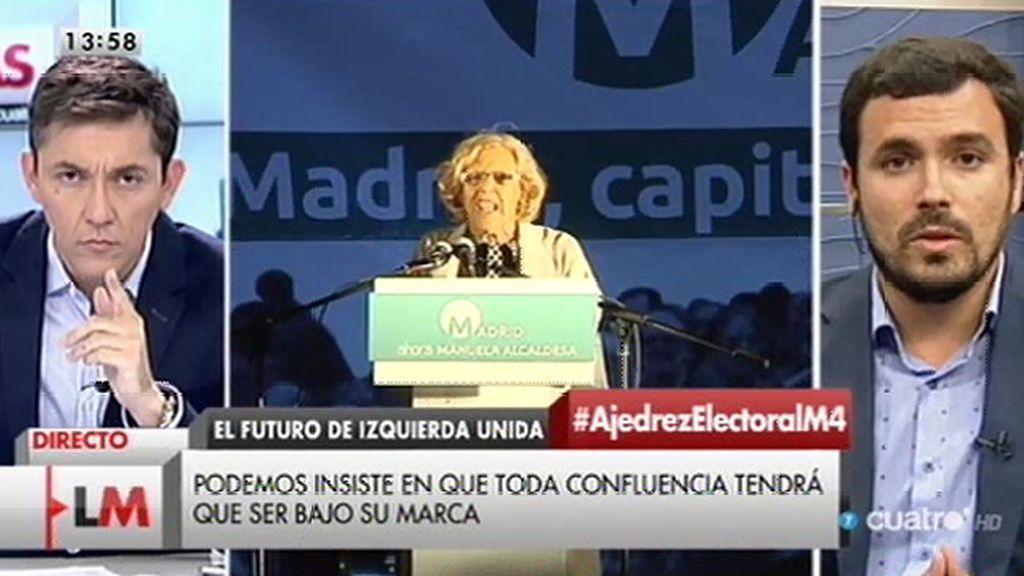 Garzón propone la creación de una candidatura de unidad popular