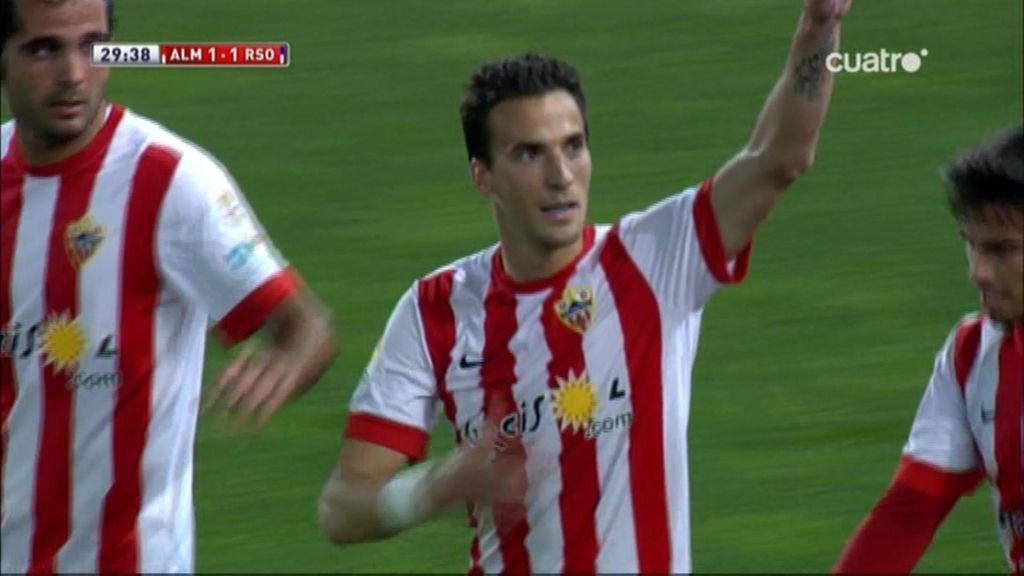 Gol de Óscar Díaz (Almería 1-1 Real)