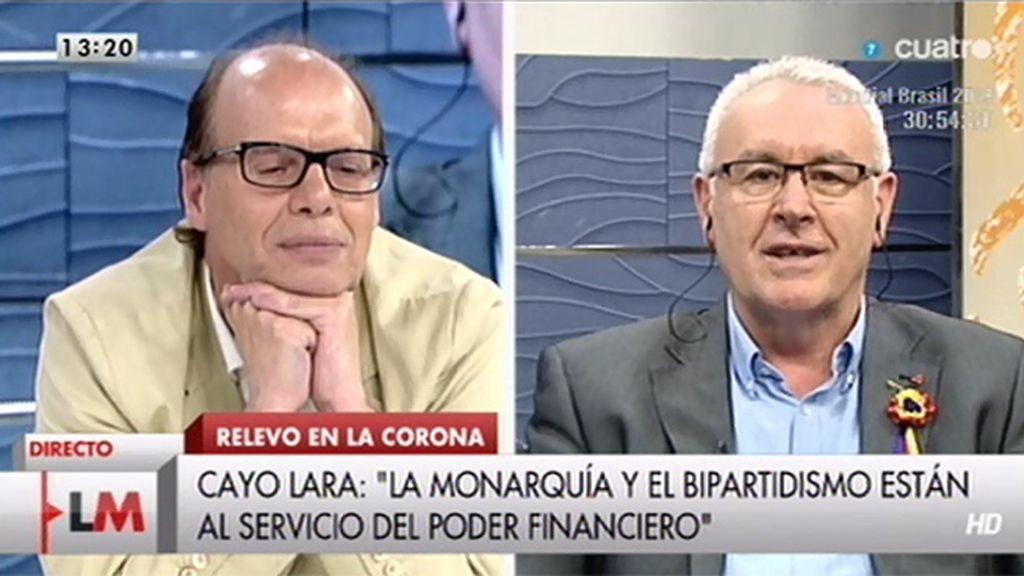 """C. Lara, a J. González: """"Creo que a quien le mete un gol Podemos es al bipartidismo"""""""