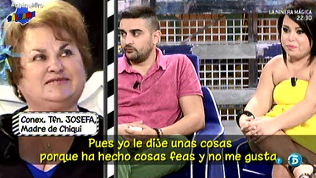 """Josefa, sobre Chiqui: """"Nos disgustamos porque yo no quería que volviera con Borja"""""""