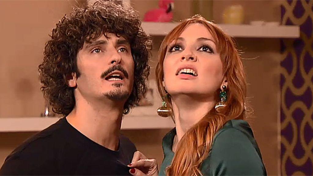 Javi y Judith, en el papel de Romeo y Julieta