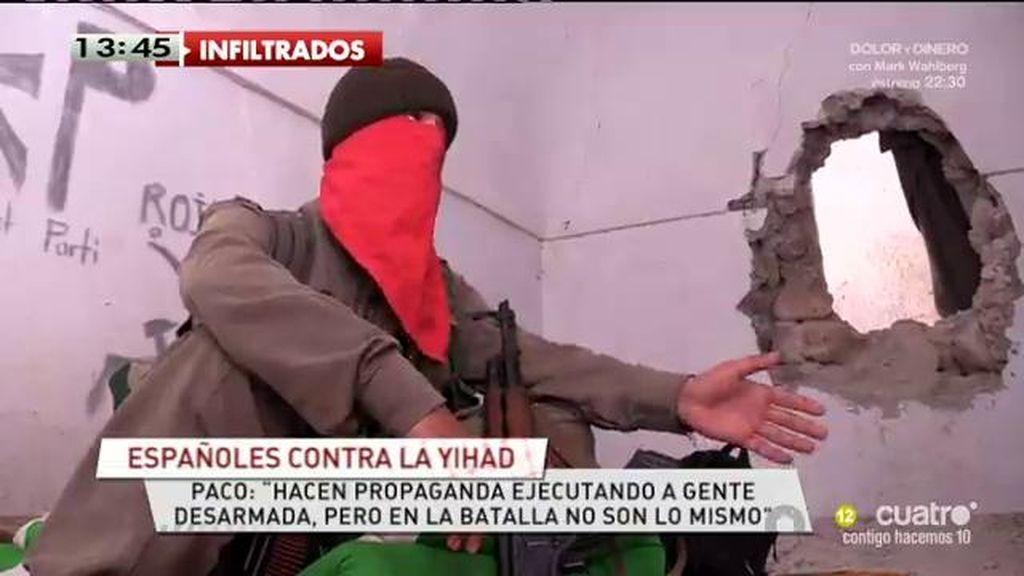 """Paco lucha contra el Estado Islámico en Irak: """"Mi sueldo es casa, comida y munición"""""""