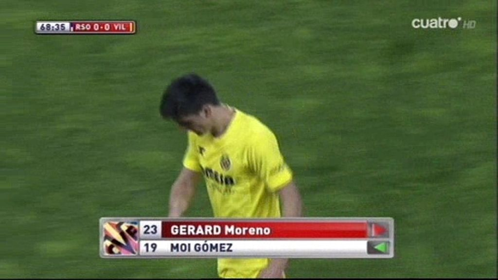 Marcelino se cabrea con Gerard y le cambia a los pocos minutos