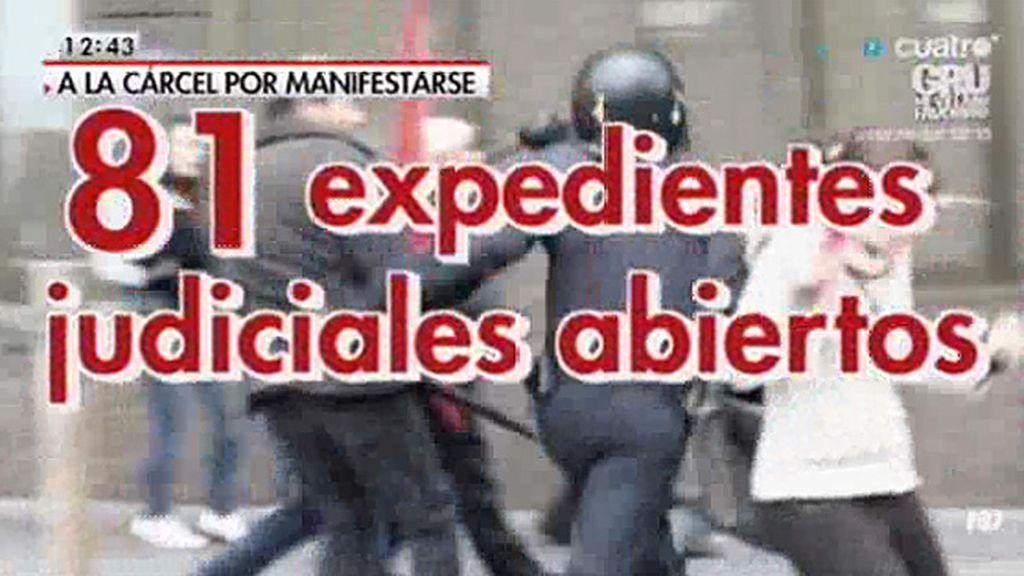 La Fiscalía acumula peticiones de cárcel contra manifestantes que acumulan 120 años