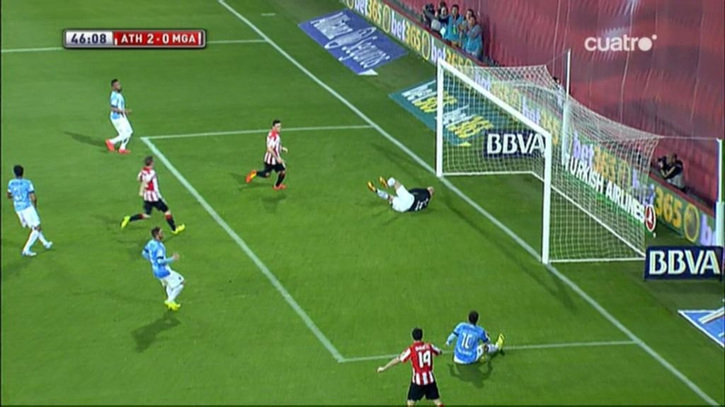 Gol de Aduriz (Athletic 2-0 Málaga)