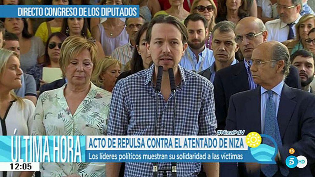Unidad de los líderes políticos españoles en la condena del atentado terrorista