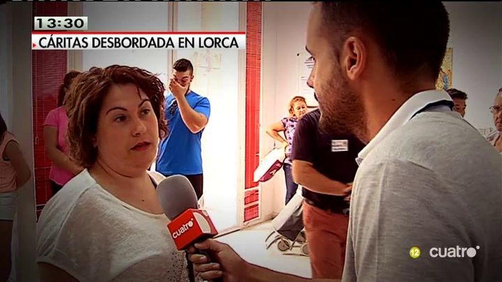 El economato de Cáritas en Lorca tiene en lista de espera a 20 familias