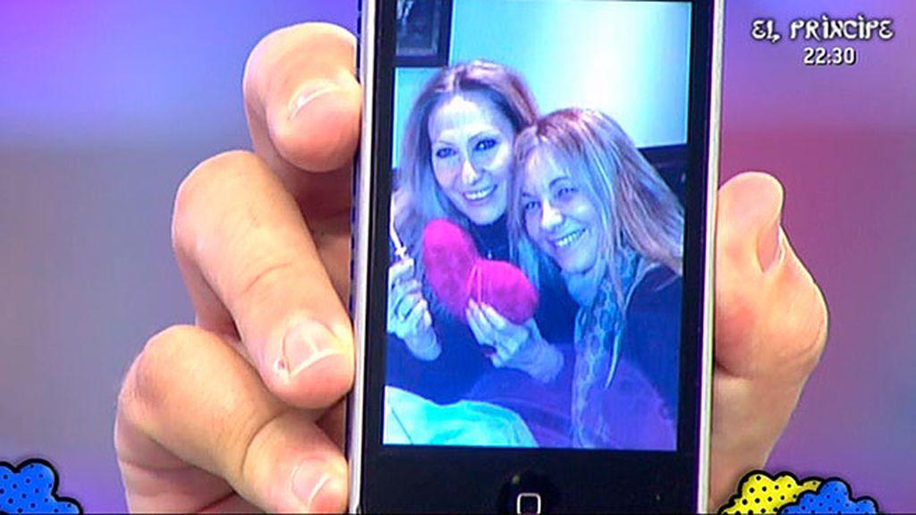 Rosa, de cumpleaños con Belén Rodríguez
