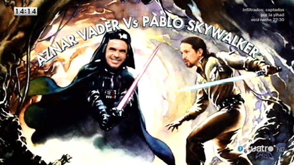 Aznar y Podemos, enfrentados