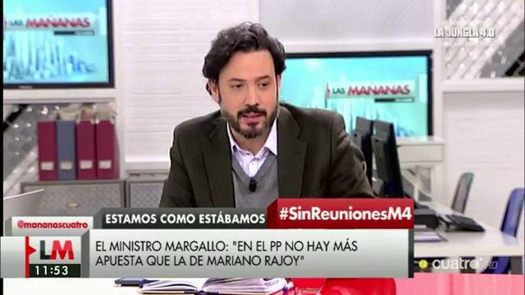 """Guillermo Mariscal: """"No existe cuestionamiento a la figura de Mariano Rajoy"""""""