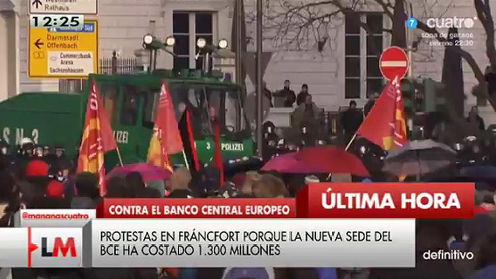 350 detenidos en Fráncfort por los incidentes en la protesta por la nueva sede del BCE