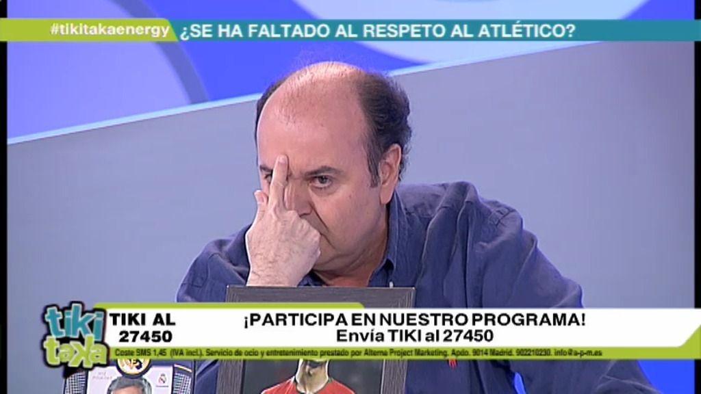 """Juanma Rodríguez: """"Los del Atlético de Madrid tenéis la piel muy fina"""""""