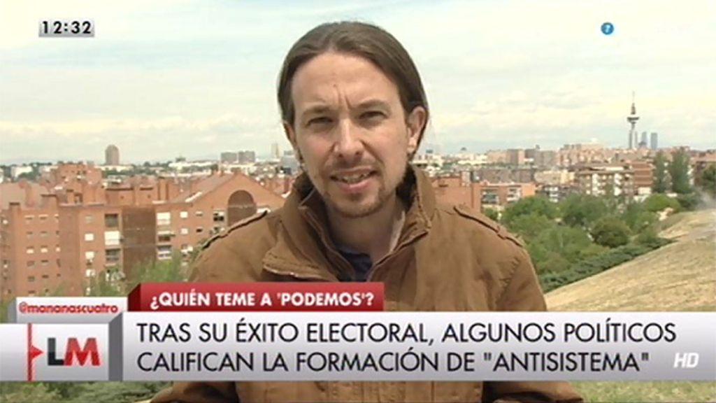 """Iglesias: """"El problema son los extremistas del PP y algunos de sus tertulianos"""""""