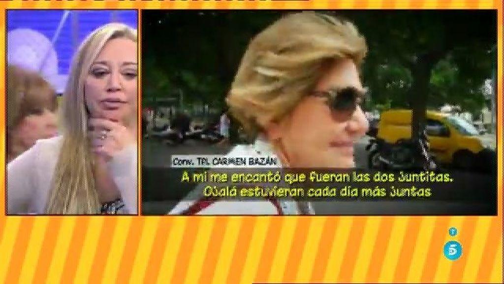 """Carmen Bazán, abuela de las hijas de Jesulín: """"Su padre las quiere a las dos por igual"""""""
