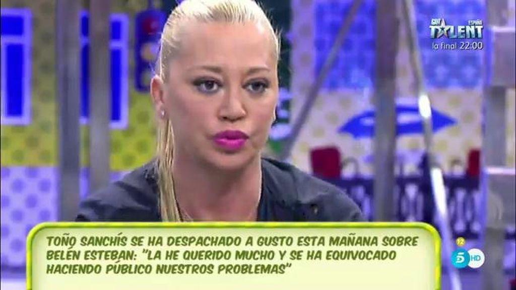 """Belén Esteban: """"Quiero que Toño me quiera como persona, no como personaje y negocio"""""""