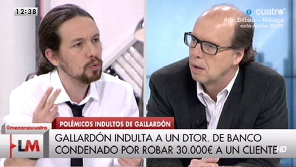 """Pablo Iglesias, sobre el Gobierno: """"A los que indulta son a sus amigos"""""""