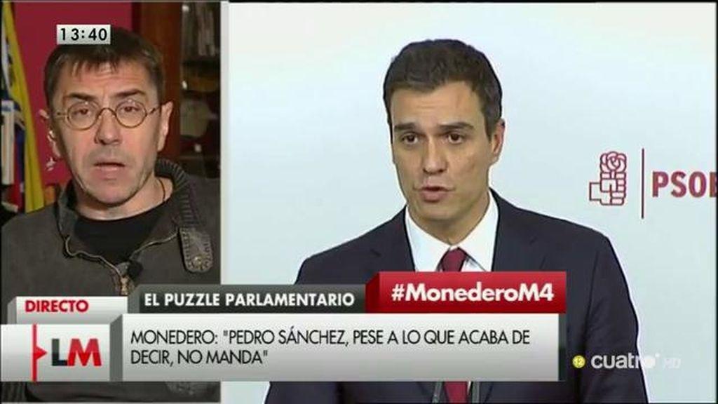 """Monedero: """"Creo que habrá un gran acuerdo entre el sector conservador del PSOE, el PP y Ciudadanos, lo manda el Ibex 35"""""""