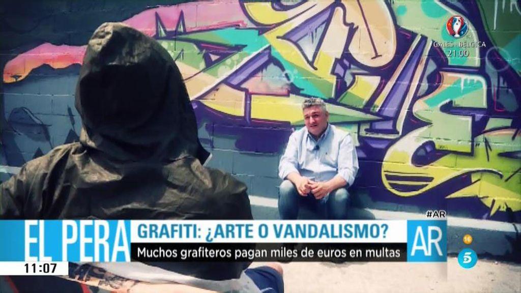 """Hinak, grafitero: """"Hay delincuentes pero no significa que el grafiti sea delincuencia"""""""