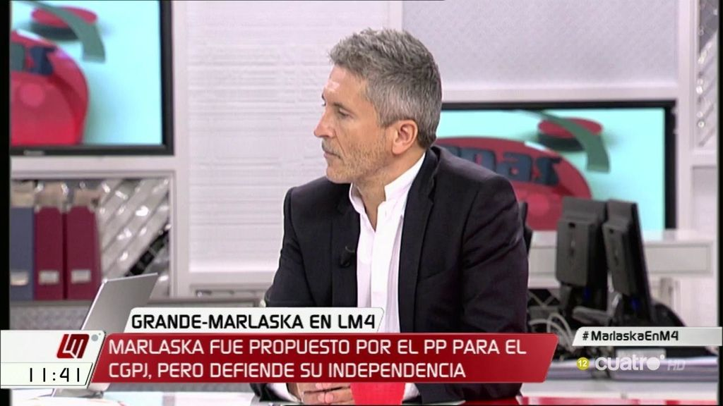 """Grande – Marlaska: """"La independencia de los jueces no está comprometida"""""""