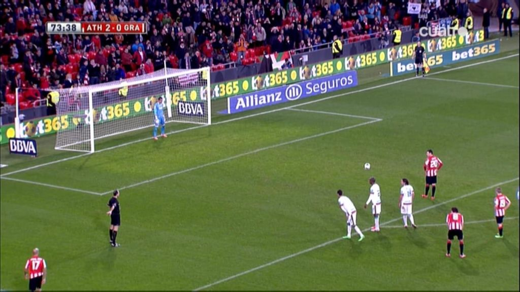 Gol de Aduriz (Athletic 3-0 Granada)