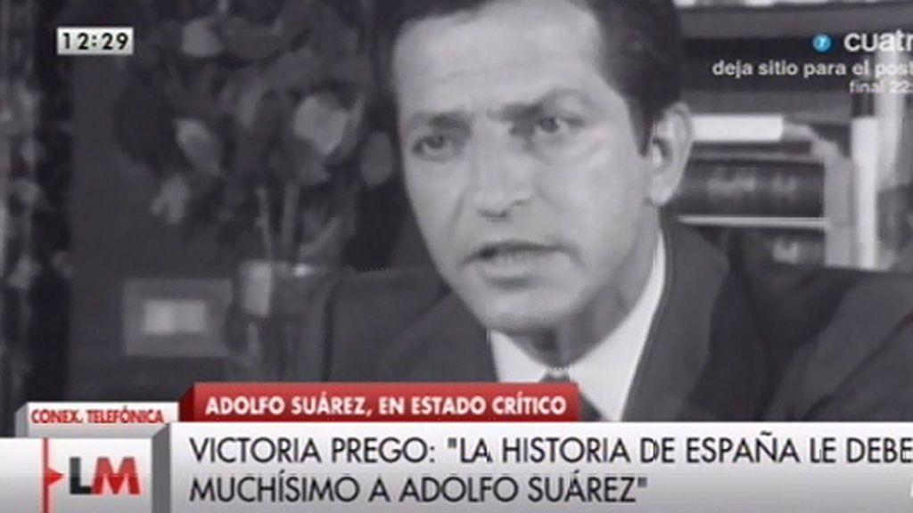 """Victoria Prego, sobre Suárez: """"La España que construyó es mejor que la de hoy"""""""